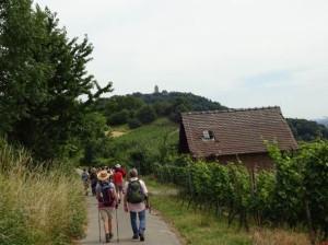 Starkenburg-Tour Blick auf die Burg Foto MS