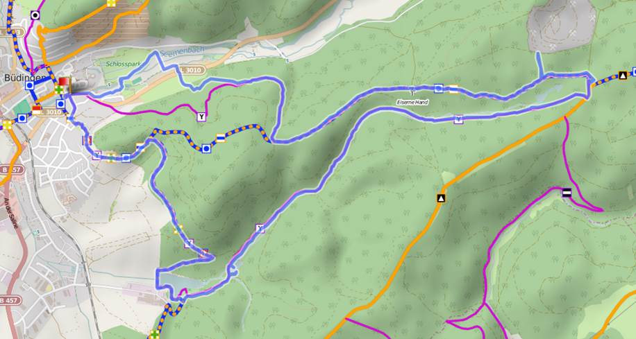 Büdingen Extra-Tour Strecke