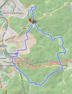 Rundweg Darmstadt ab Oberwaldhaus