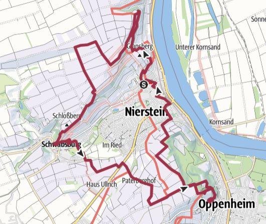Karte Nierstein Oppenheim